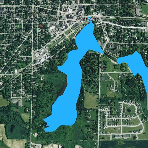 Fly fishing map for Cravath Lake 27.5, Wisconsin