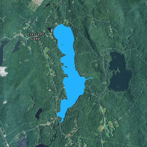 Fly fishing map for Crescent Lake, Maine