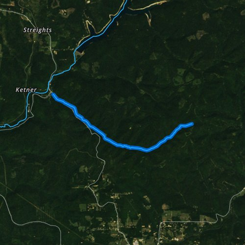 Fly fishing map for Crooked Creek, Pennsylvania