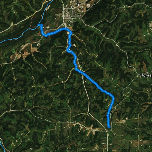 Fly fishing map for Crooked Creek, Wisconsin