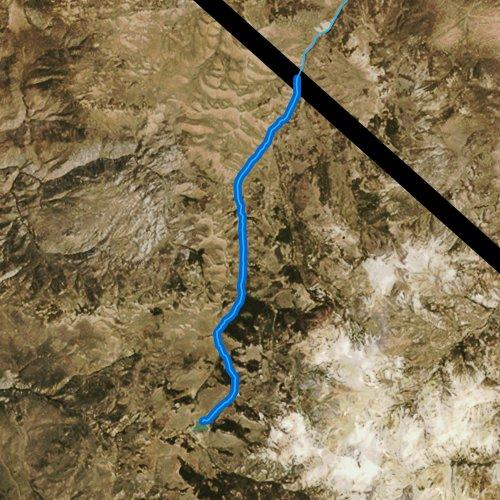 Fly fishing map for Desert Creek, California