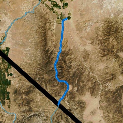 Fly fishing map for Desert Creek, Nevada