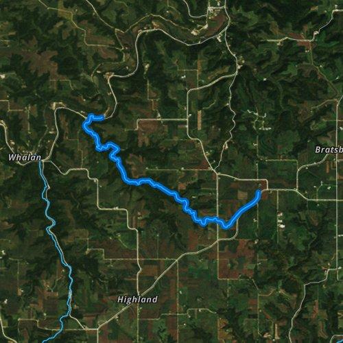 Fly fishing map for Diamond Creek, Minnesota