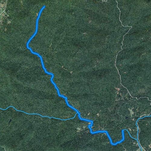 Fly fishing map for Dicks Creek, Georgia