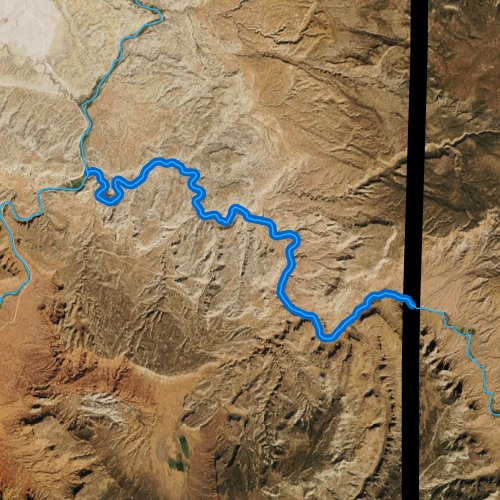 Fly fishing map for Dolores River, Utah
