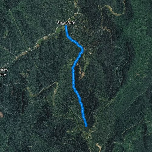 Fly fishing map for Double Camp Creek, Tennessee