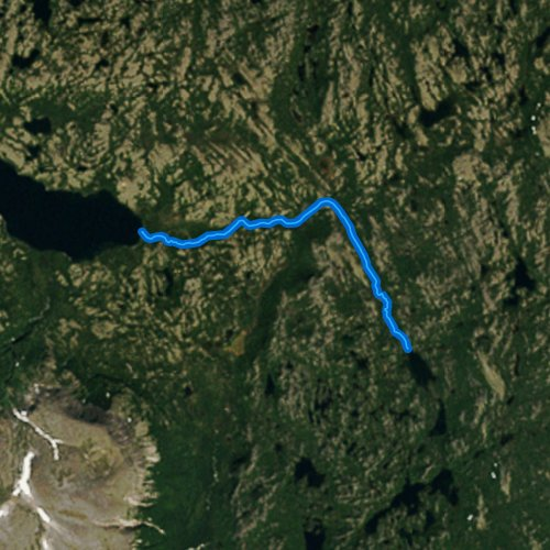 Fly fishing map for Dream Creek, Alaska