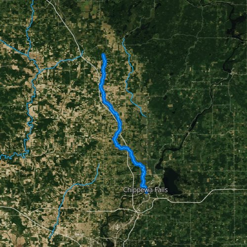 Fly fishing map for Duncan Creek, Wisconsin
