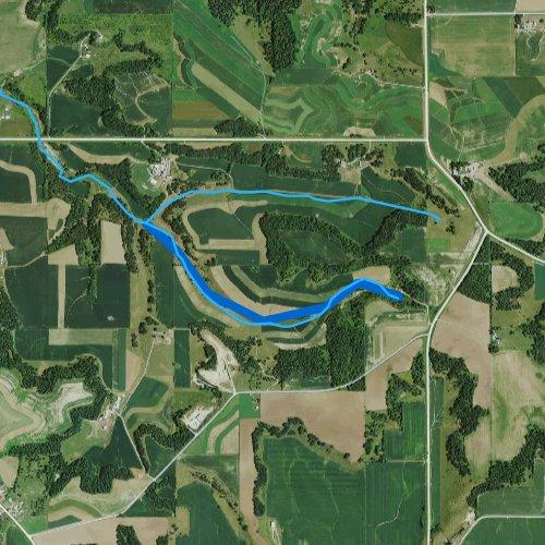 Fly fishing map for Duschee Creek, Minnesota
