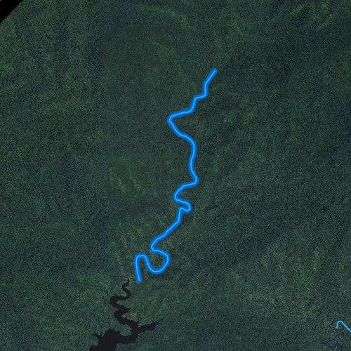 Fly fishing map for Eagle Creek, North Carolina