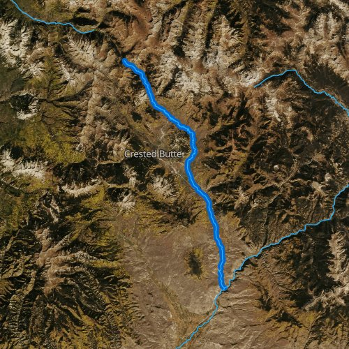 Fly fishing map for East River, Colorado