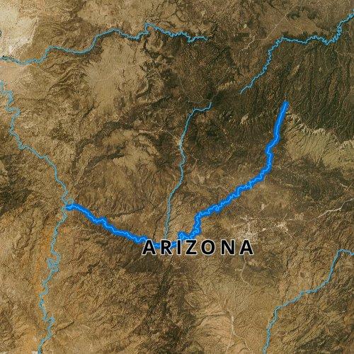 Map Of East Arizona.East Verde River Arizona Fishing Report