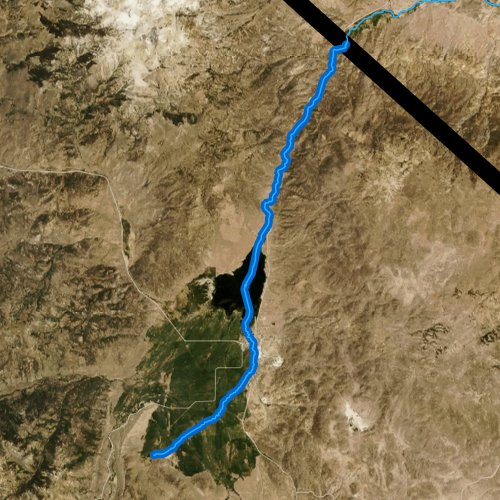 Fly fishing map for East Walker River, California