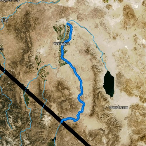 Fly fishing map for East Walker River, Nevada