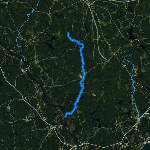 Fly fishing map for Eightmile River, Connecticut