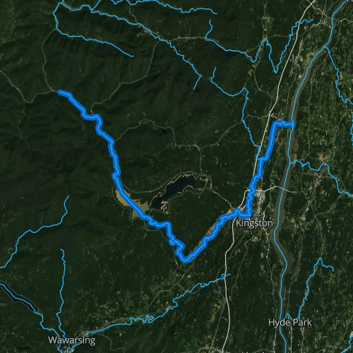 Fly fishing map for Esopus Creek, New York