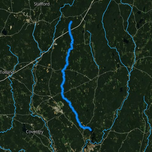 Fly fishing map for Fenton River, Connecticut