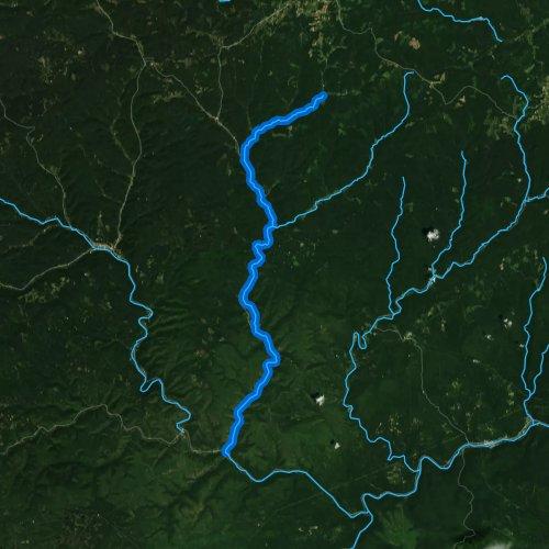 Fly fishing map for First Fork Sinnemahoning Creek, Pennsylvania