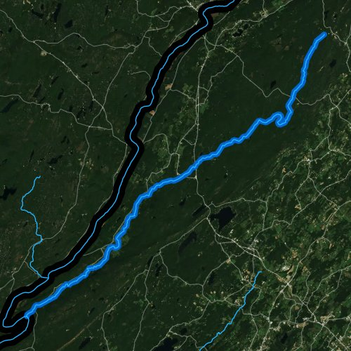 Fly fishing map for Flat Brook, New Jersey