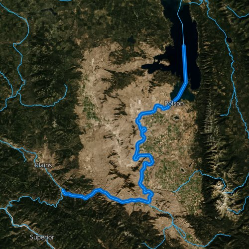 Fly fishing map for Flathead River: Lower, Montana