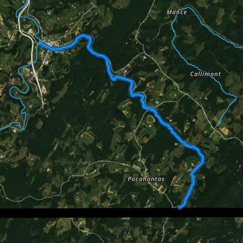 Fly fishing map for Flaugherty Creek, Pennsylvania
