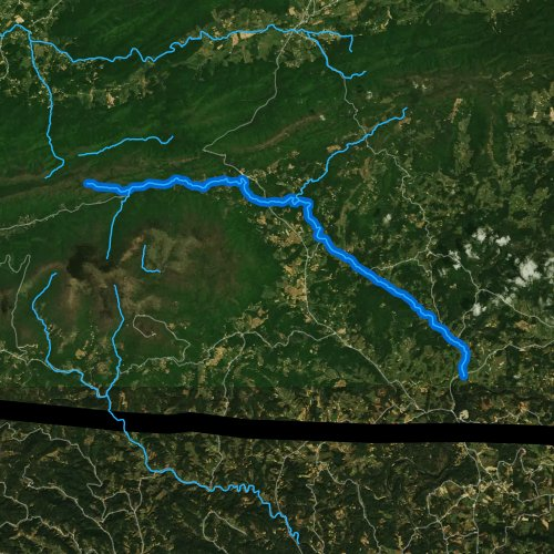 Fly fishing map for Fox Creek, Virginia