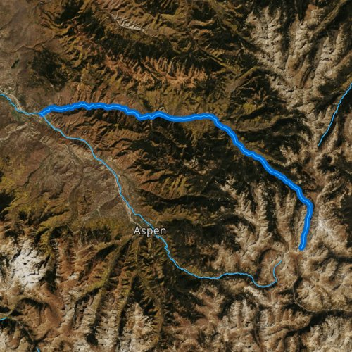 Fly fishing map for Fryingpan River, Colorado