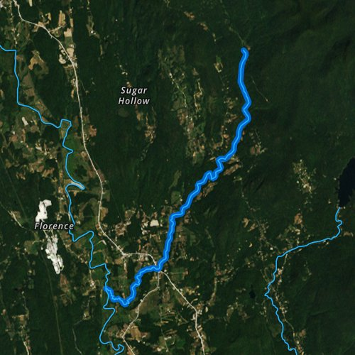 Fly fishing map for Furnace Brook, Vermont