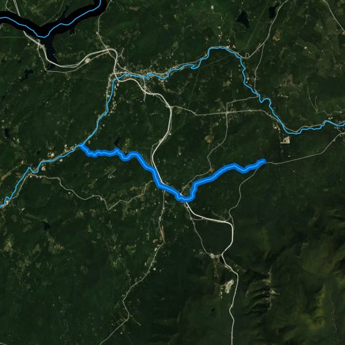 Fly fishing map for Gale River, New Hampshire