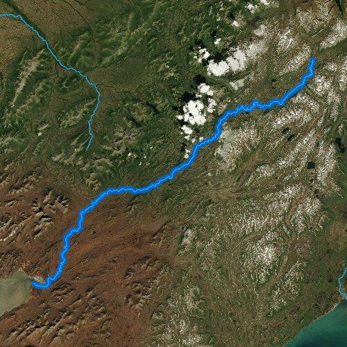 Fly fishing map for Goodnews River, Alaska