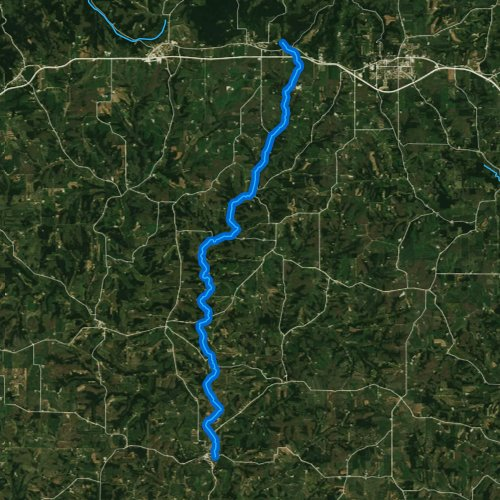 Fly fishing map for Gordon Creek, Wisconsin