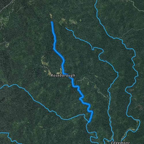 Fly fishing map for Gragg Prong, North Carolina