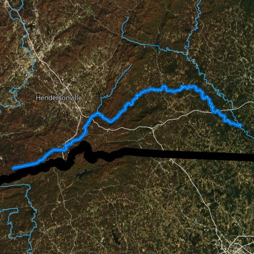 Fly fishing map for Green River, North Carolina