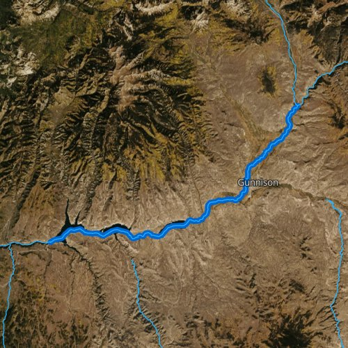 Fly fishing map for Gunnison River: Upper, Colorado