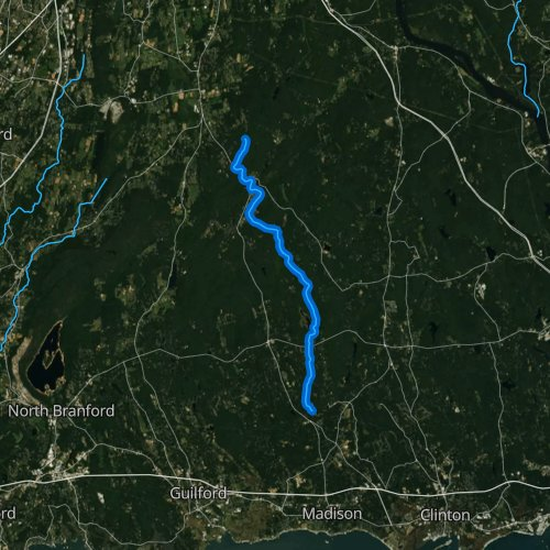 Fly fishing map for Hammonasset River, Connecticut
