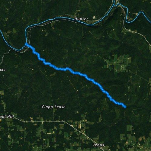 Fly fishing map for Hemlock Creek, Pennsylvania
