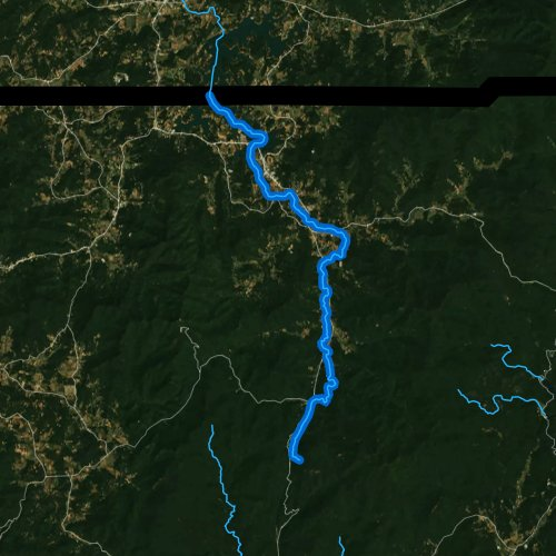 Fly fishing map for Hiwassee River, Georgia