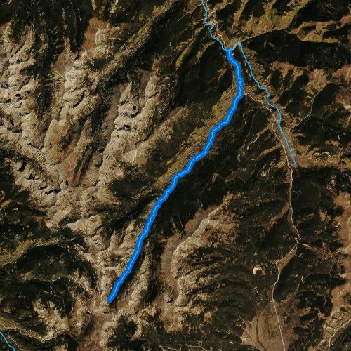 Fly fishing map for Homestake Creek, Colorado