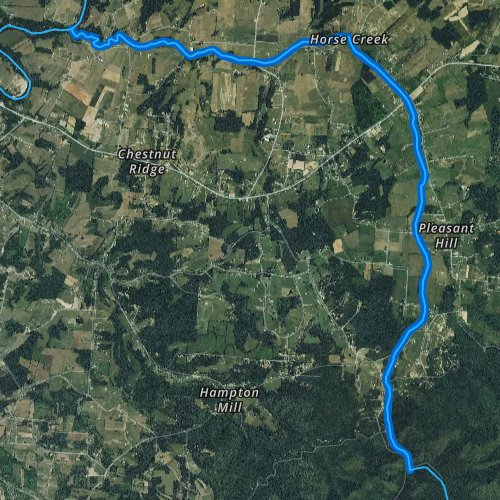 Fly Fishing Tennessee Map.Horse Creek Tennessee Fishing Report