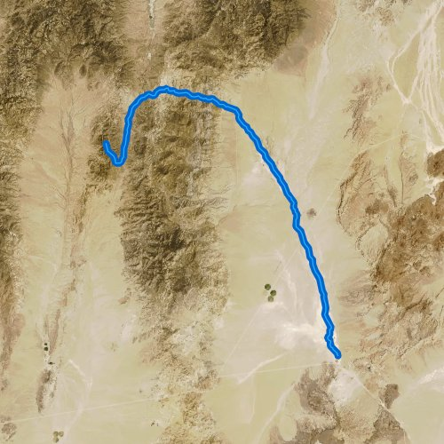 Fly fishing map for Hot Creek, Nevada