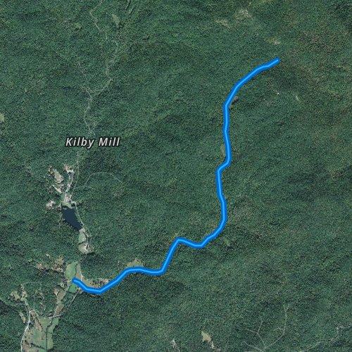Fly fishing map for Howard Creek, South Carolina