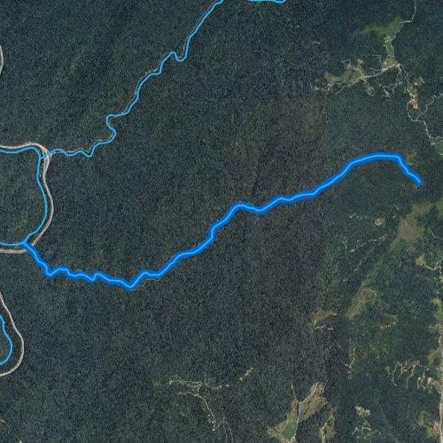Fly fishing map for Hurricane Creek, North Carolina
