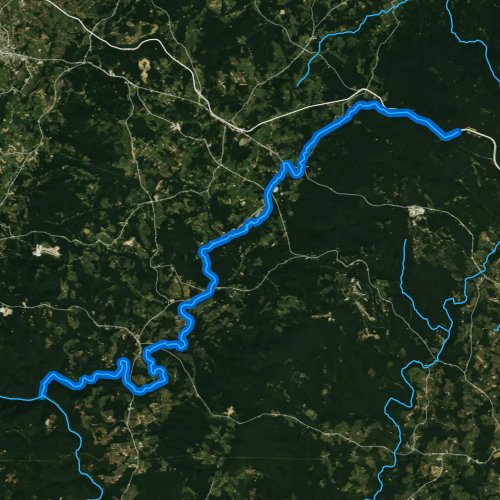 Fly fishing map for Indian Creek, Pennsylvania