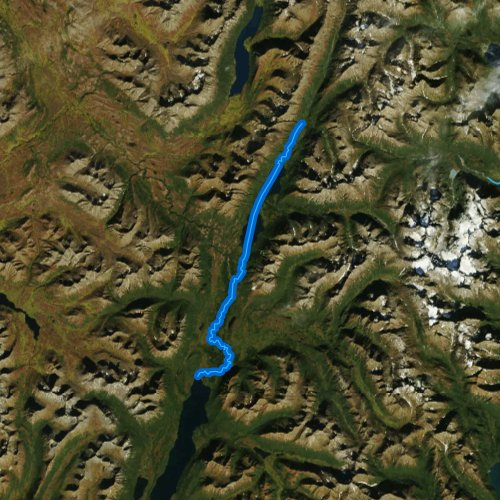 Fly fishing map for Izavieknik River, Alaska