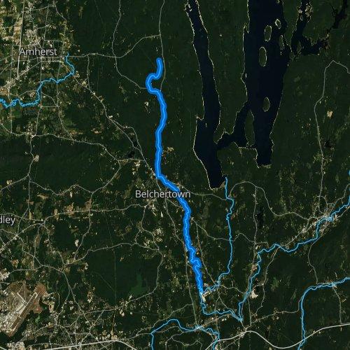 Fly fishing map for Jabish Brook, Massachusetts