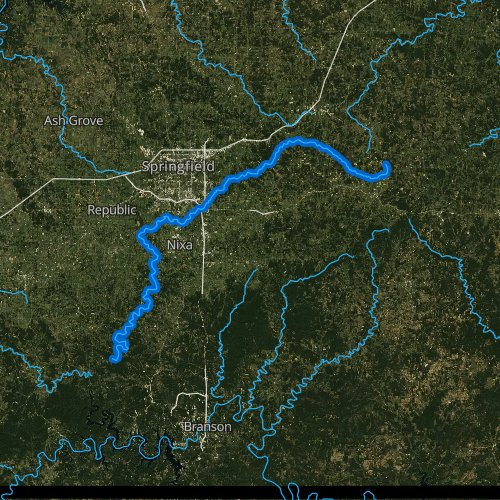 James River Missouri Fishing Report - James-river-on-us-map
