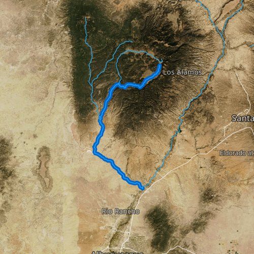 Fly fishing map for Jemez River, New Mexico