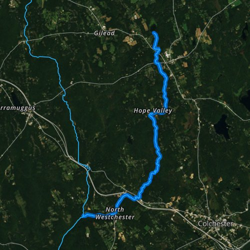 Fly fishing map for Jeremy River, Connecticut