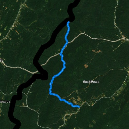 Fly fishing map for Jerrys Run, Virginia