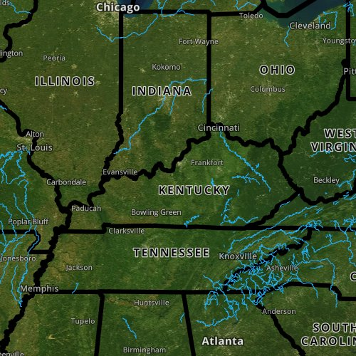 Fly fishing report and map for Kentucky.